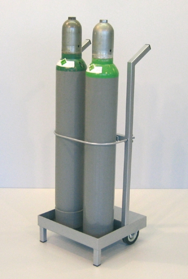 Unilab Flaschenwagen f. 2 Stahlflaschen