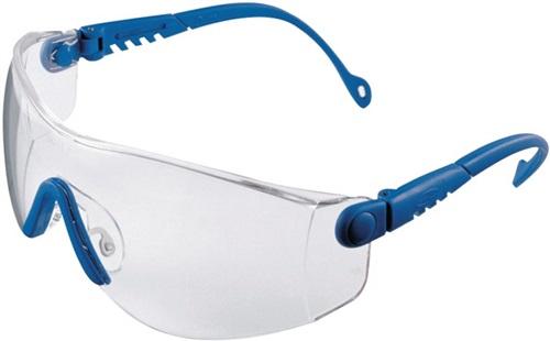 Schutzbrille Op-Tema EN 166-1FT Bügel blau,Scheiben klar PC HONEYWELL