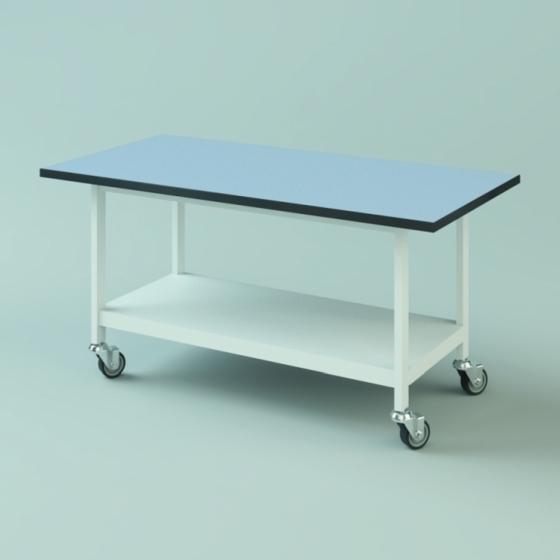 Schwerlasttisch TopResist Sitzarbeitshöhe m. Tischplatte 1 Ablage